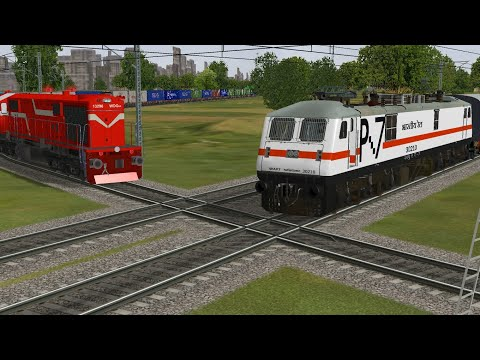 Two trains Crossing