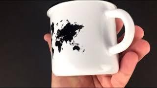 """Эмалированная чашка """"Карта мира""""Обзор"""