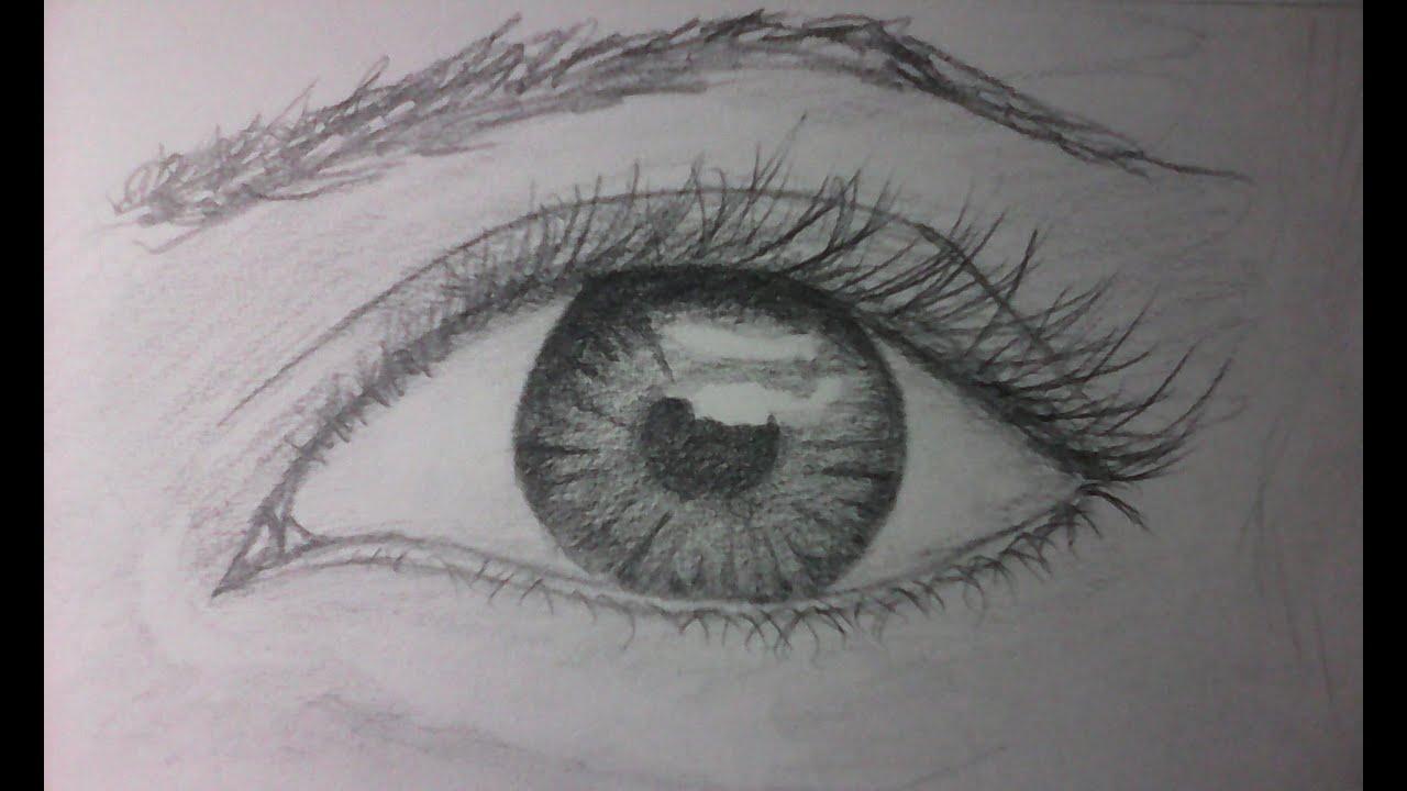 Como Dibujar un ojo realista a lapiz facil y bien explicado  YouTube