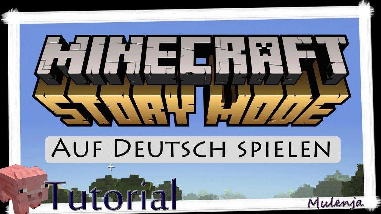 Tutorial Minecraft Story Mode Auf Deutsch Spielen YouTube - Minecraft story mode deutsch spielen