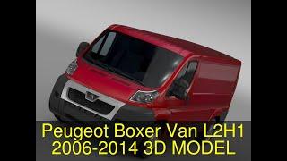 3D Model of Peugeot Boxer Van L2H1 2006-2014 Review