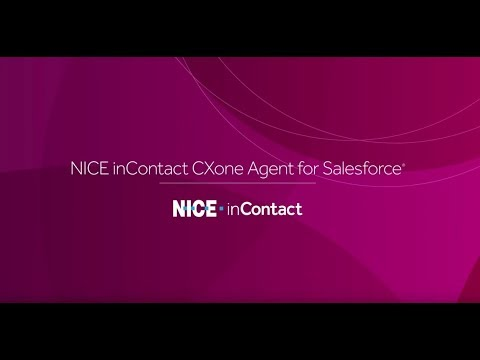 CXone Agent for Salesforce