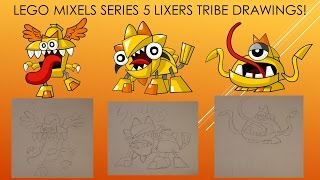 LEGO Mixels Series 5 Lixers Tribe Drawings!