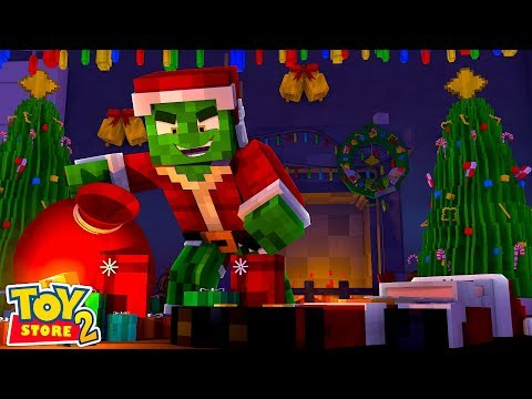 THE GRINCH STEALS CHRISTMAS!!! Minecraft w/ Little Kelly and Sharky