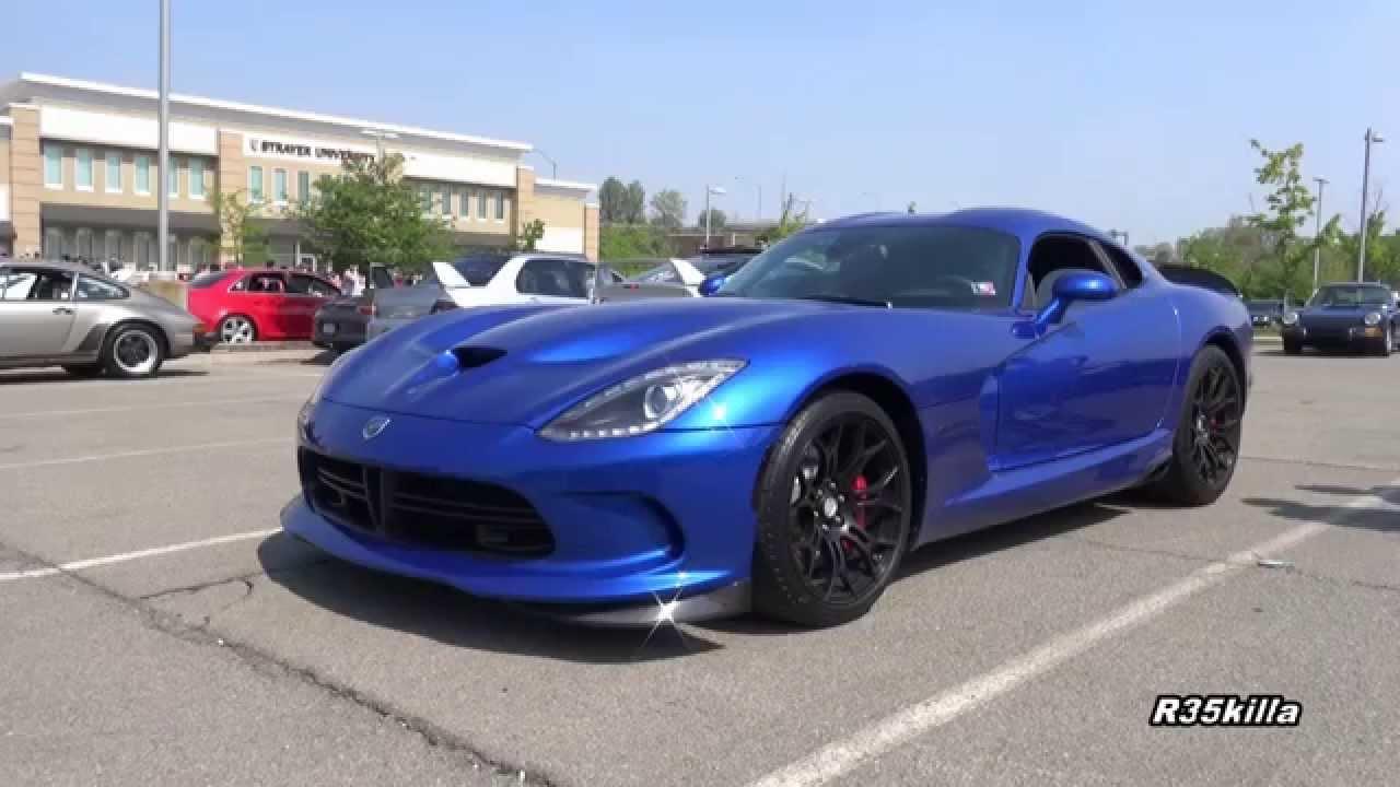 2015 Viper SRT GTS - LOUD Startup & Rev! - Pitt. Cars & Coffee - YouTube