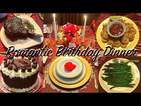 THE MOST ROMANTIC BIRTHDAY DINNER AT HOME FOR MY HUSBAND | BIRTHDAY DINNER VLOG