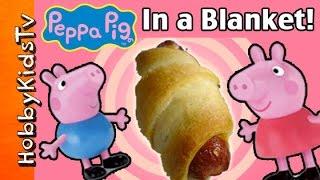 HobbyFood: Peppa Pigs in a Blanket! MINECRAFT Pig Cooking Snack with HobbyMema HobbyKidsTV