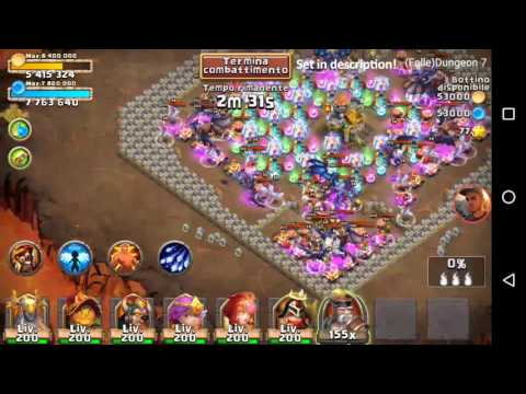 Castle Clash - Insane Dungeon 7 - 1