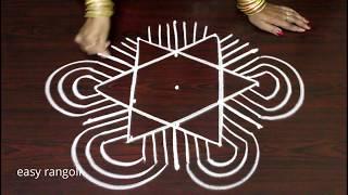 new padi kolam designs with 5 dots - geetala muggulu - margazhi kolam   easy & simple rangoli