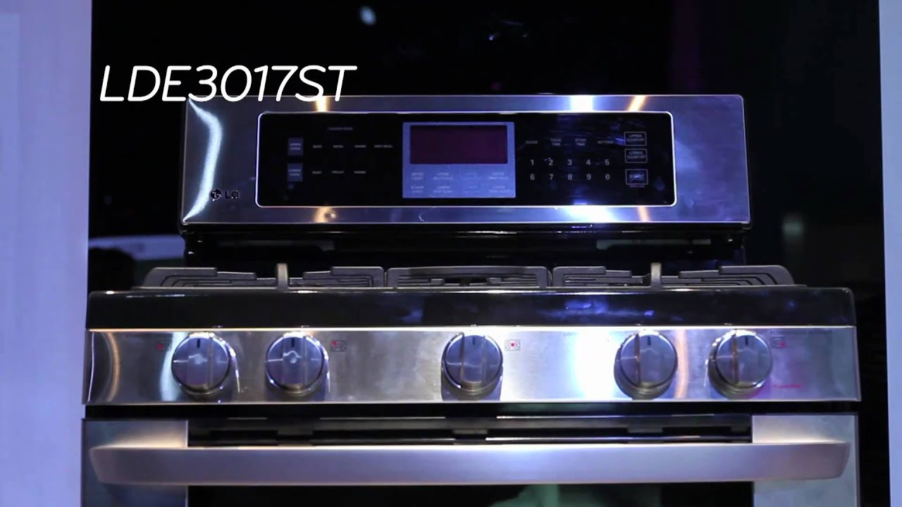 LG Electric Double Oven Range with InfraGrill LDE3017ST - YouTube