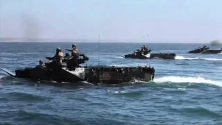 Marine Amphibious Assault Vehicles (AAV-7A1) in action (PART 2 of 3)