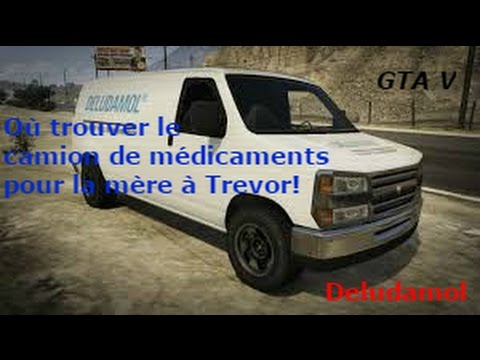 gtav o trouver le camion de m dicament pour la m re trevor youtube. Black Bedroom Furniture Sets. Home Design Ideas
