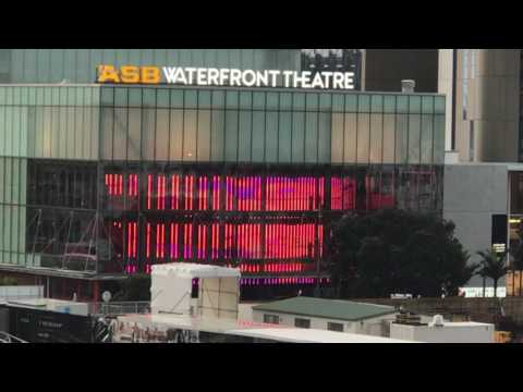 Auckland Viaduct's ASB Waterfront Theatre Light Show.