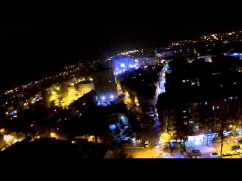 isparta havadan gece manzarası