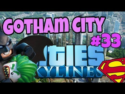 CITIES SKYLINES, GOTHAM CITY #33 METROPOLIS PLANNING //XBOX ONE GAMEPLAY