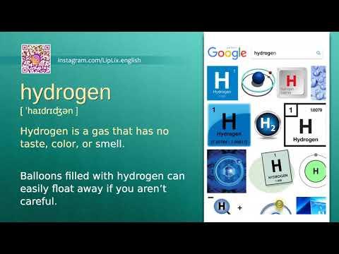 Hydrogen : C2 level english vocabulary lesson, www.LipLix.com