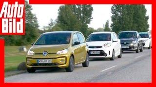Vier Kleinwagen im Vergleich (2016) Test/VW Up Facelift/Kia Picanto/Renault Twingo/Citroen C1