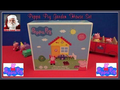 santa-claus:-peppa-pig-garden-house-construction-set-unboxing