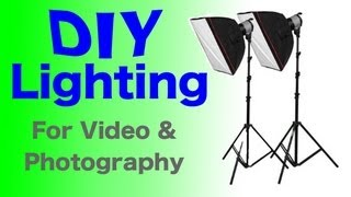Diy Lighting Under $30 For Video's & Photo's