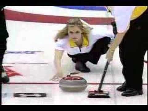 Jennifer Jones Best Curling Shot!