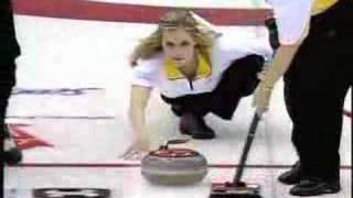 Jennifer Jones Best Curling Shot!