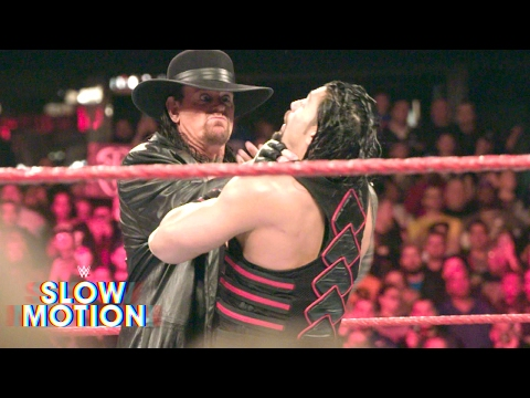 Bone-chilling slow-motion video of Roman Reigns' face-off with The Undertaker: Mar. 7, 2017