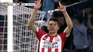 ¡QUE DEFINICIÓN! El golazo de Chucky Lozano en su regreso con PSV vs Utrecht (HD) 11/08/18