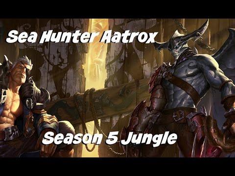 League of Legends: Sea Hunter Aatrox Jungle Gameplay Commentary