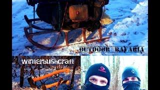 Eiskalt erwischt - 18° extrem Bushcraft - Biwak / Outdoor Bavaria