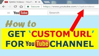 How To Get A Custom URL For YouTube Channel 2019 | How To Enable Custom URL For Youtube Channel