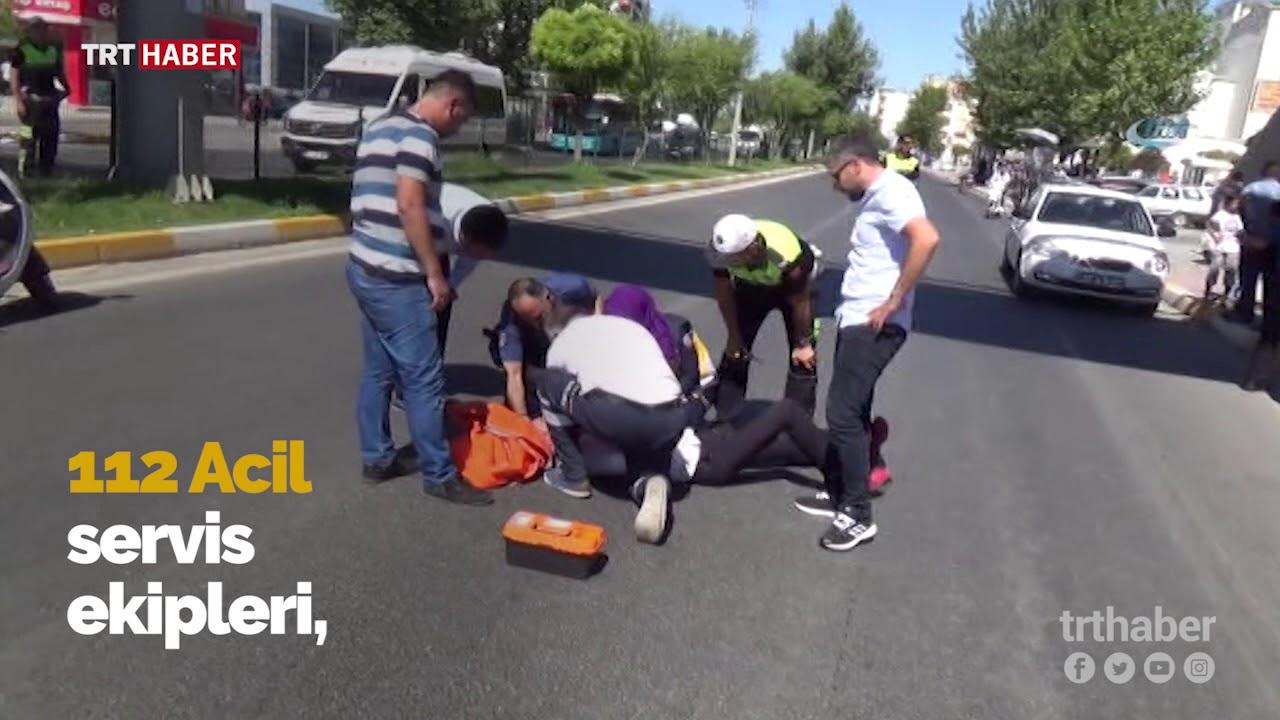 Üst geçitten atlayan genci sağlık ekipleri kurtardı