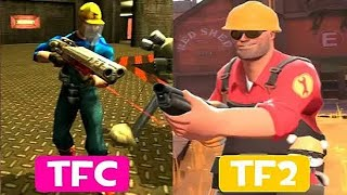 Team Fortress Classic Vs Team Fortress 2 Player Model Comparisons