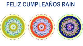 Rain   Indian Designs - Happy Birthday