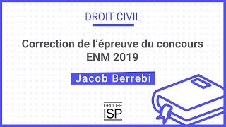 Gambar cover Correction annales de droit civil - dissertation 2019 ENM