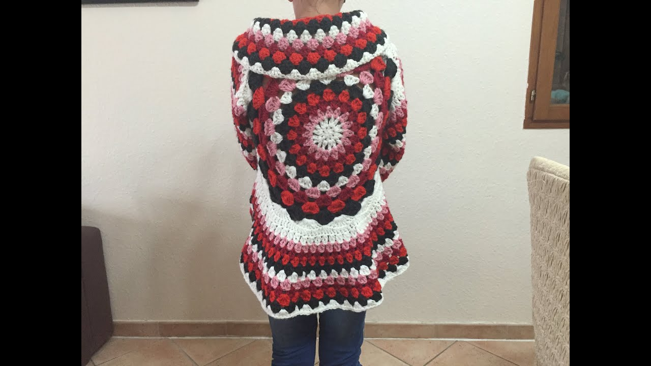 Gut gemocht Tuto gilet cardigan mandala tout âge au crochet - YouTube SO39