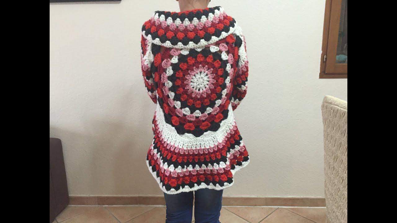 Häufig Tuto gilet cardigan mandala tout âge au crochet - YouTube HG27