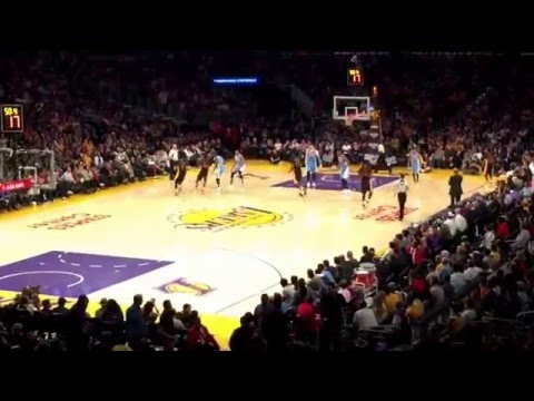Last Friday game of Kobe Bryant at Staples Center - Lakers vs Nuggets - March 25, 2016 #KB20