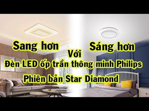 Đèn LED ốp trần thông minh Philips Zhirui (phiên bản Star Diamond)