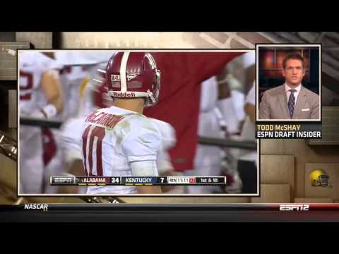 Todd McShay owned by AJ McCarron on Live TV