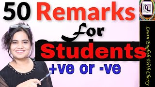 Remarks for students - Classroom English - Daily English Speaking - Part 75 - #cherry