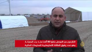 النازحون من الموصل بلغوا 85 ألفا منذ بدء المعركة