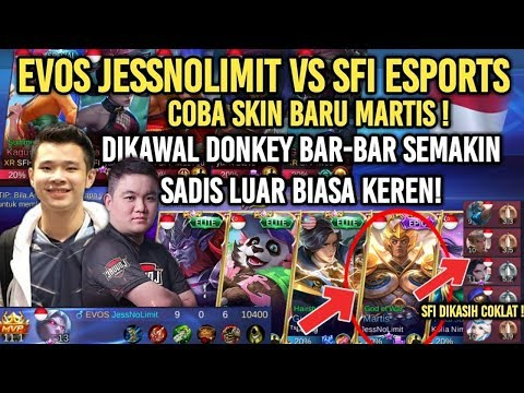 WOW! JESSNOLIMIT PAKAI MARTIS GOD OF WAR VS SFI MOBILE LEGENDS