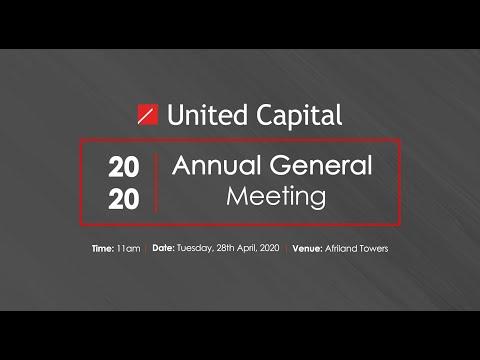 United Capital Plc AGM 2020 Live