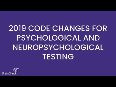 2019 CPT Code Changes for Neurocognitive Testing Explained in 60 Seconds