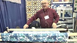 using leader grips for loading quilts on a longarm machine
