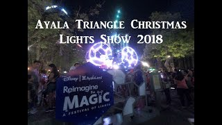 Ayala Triangle Christmas Lights Show 2018 |Disney | Front View