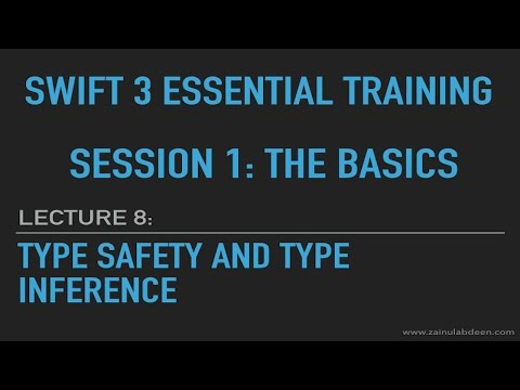 Swift Type Safety and Type Inference: Lecture 8: Session 1