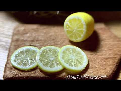 Miniature lemon. Polymer clay