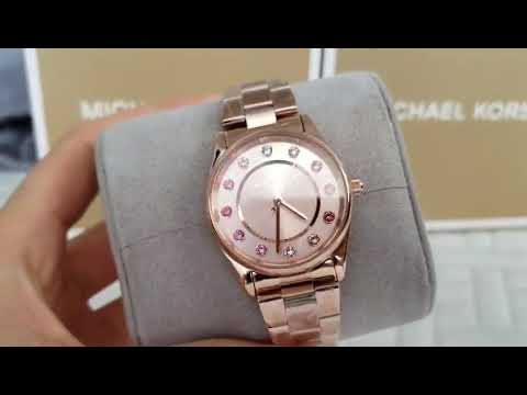 c9fef99c23e1 MK6604 Michael Kors Women s Colette Three-Hand Rose Gold-Tone Stainless  Steel Watch