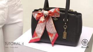 Tutorial: 7 Ways to Tie Nanette's Twilly on Your Bag